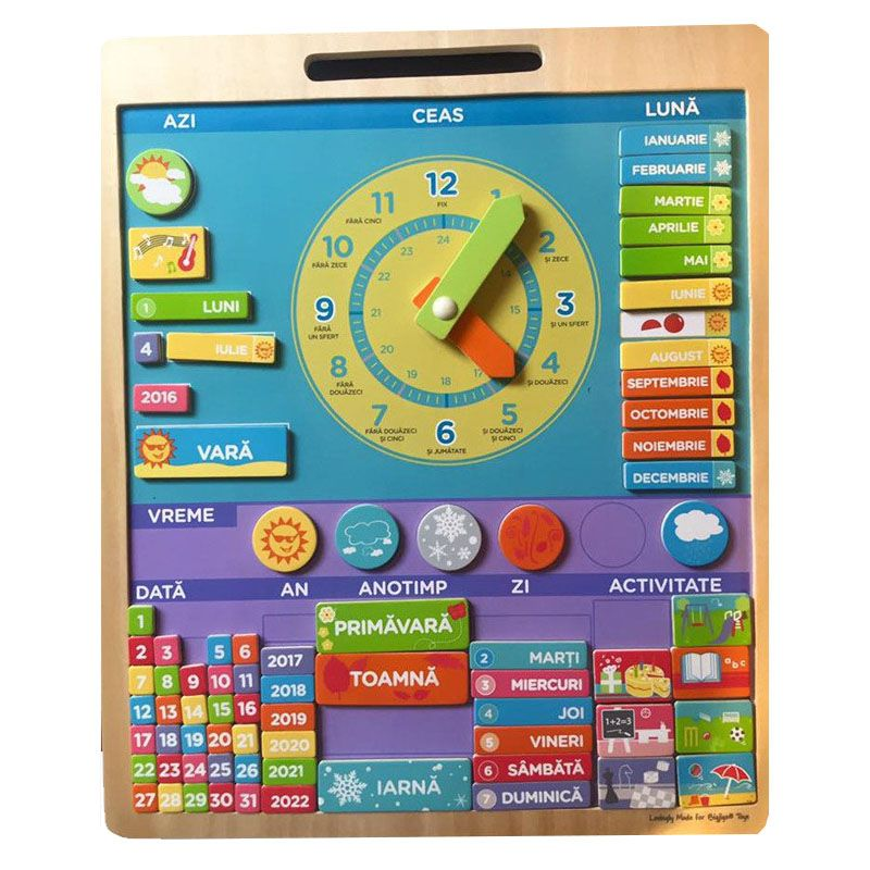 Calendar Educativ Magnetic Lb Romana