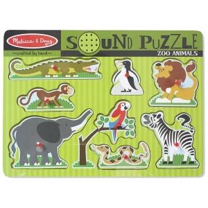 Puzzle de lemn cu sunete Animale de la Zoo (MD0727)