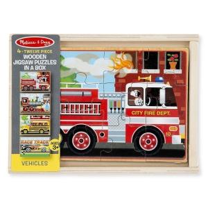 Set puzzle din lemn Vehicule (MD3794)