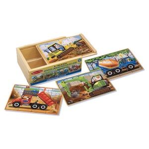 Set puzzle lemn Vehicule constructii (MD3792)