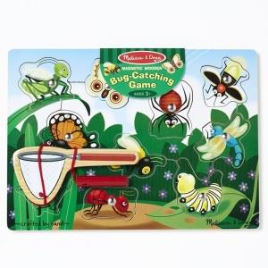 Joc magnetic din lemn Prinde insectele (MD3779)