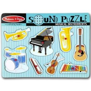 Puzzle lemn cu sunete Instrumente muzicale (MD0732)