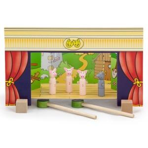 Teatru de papusi magnetic din lemn (0803-VI)