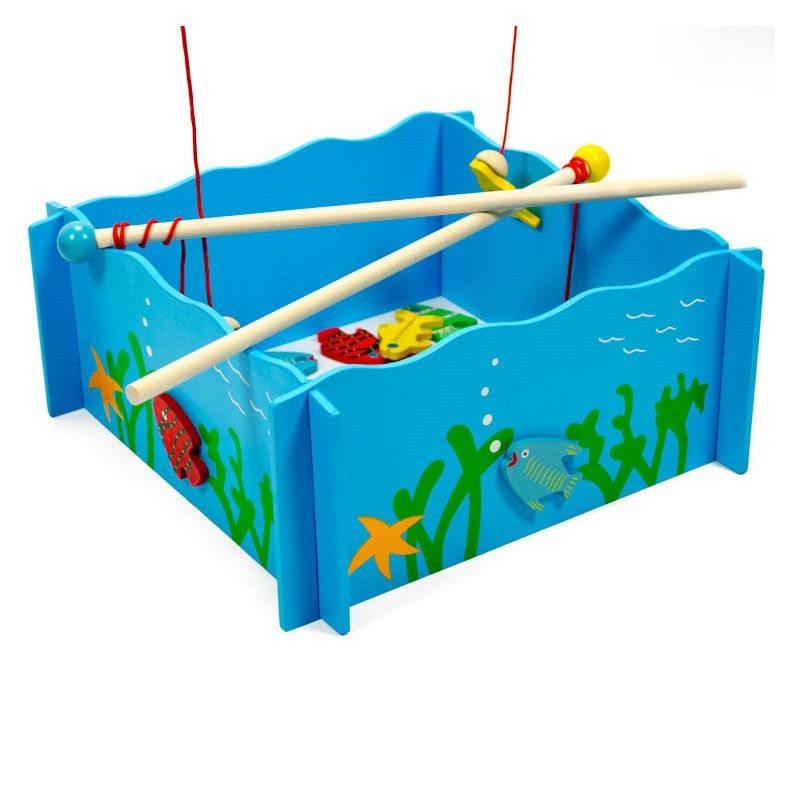 Joc magnetic de pescuit din lemn (0744-FA)