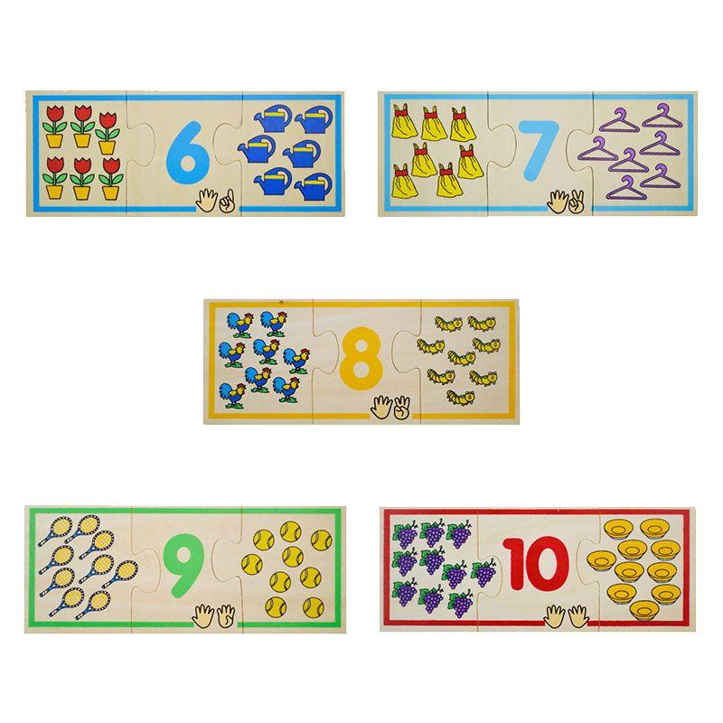 Puzzle lemn Invatam numerele (2576-FA)