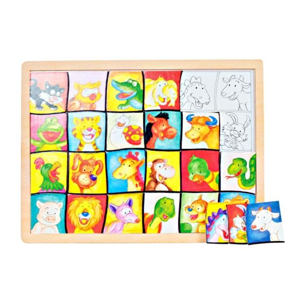 Puzzle din lemn Potriveste imaginile (0096-FA)