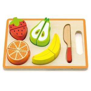 Fructe feliabile din lemn pe tavita (4238-VI)