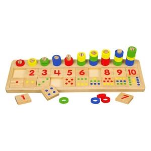Joc educativ Numara si potriveste numerele (0304-VI)