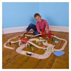 Circuit auto si feroviar (80 piese) (BJT021-DS)