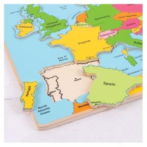 Puzzle din lemn - Harta Europei (BJ306)