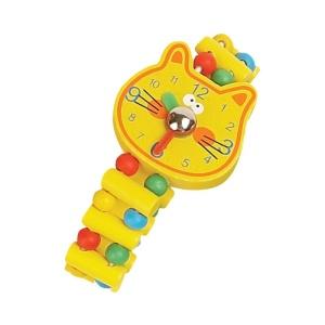 Ceas de jucarie din lemn Pisica (2296D-FA)