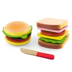 Set hamburger si sandvis din lemn (4474-VI)