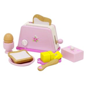Toaster din lemn cu accesorii mic dejun (4280-ME)