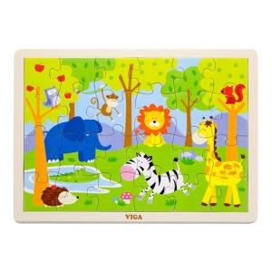 Puzzle din lemn 24 buc. Zoo (3452-VI)