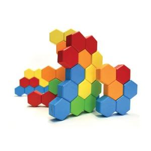 Joc de constructie Hexagoane Fat Brain Toys (FBTFA058-1)