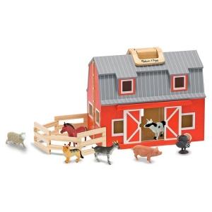 Grajd din lemn pliabil cu animale - Melissa & Doug (MD3700)