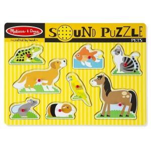 Puzzle cu sunete Animale de companie (MD0730)