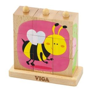 Cuburi montessori Insecte (3442-VI)