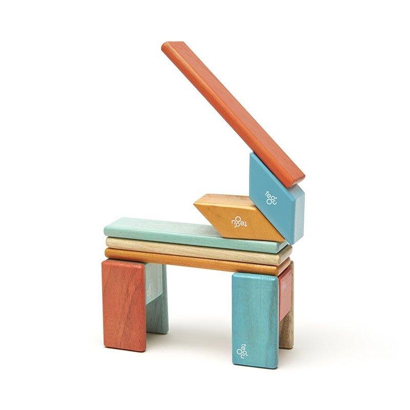 Tegu – Set 14 piese din lemn magnetic – sunset (14P-SNS-508T)