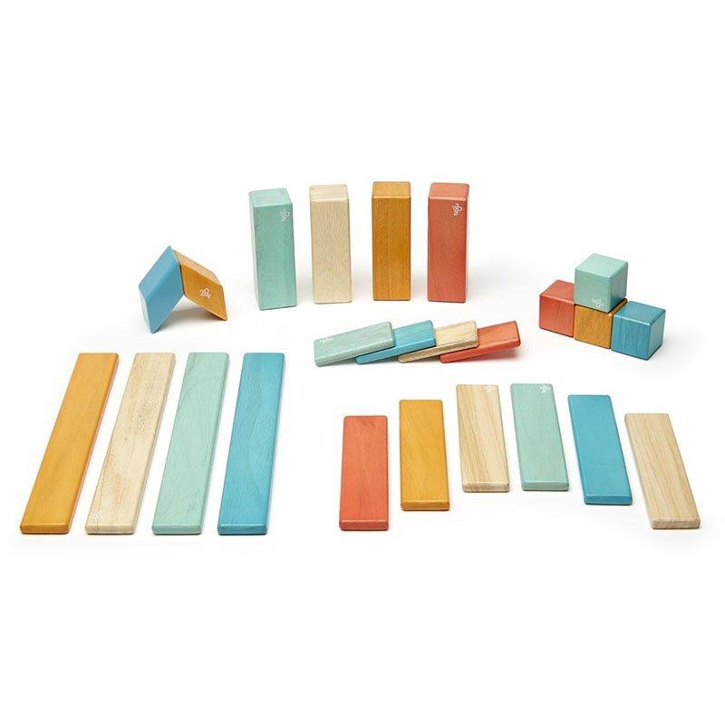 Tegu – Set 24 piese din lemn magnetic – sunset (24P-SNS-508T)