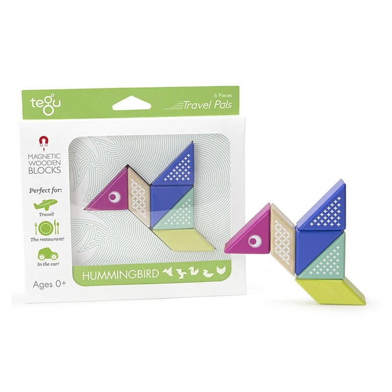 Tegu - Hummingbird Travel Pal set din lemn magnetic (PAL-HUM-706T)