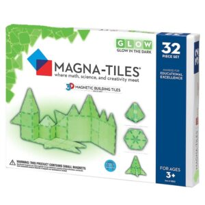 Magna-Tiles GLOW fosforescent set magnetic (32piese) (16032-MGT)