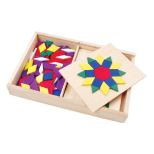 Set mozaic din lemn Tangram cu modele (0575-FA)