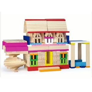 Cuburi creative din lemn (250 buc.) (4656-VI)