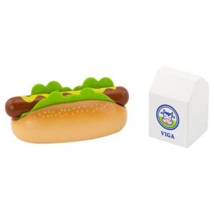 Hotdog si lapte jucarie din lemn (4659-VI)