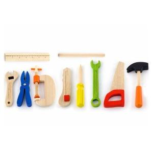 Trusa de scule din lemn (cutie + 10 piese) (4644-VI)