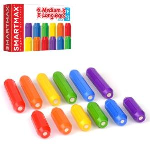 Joc magnetic SmartMax - Set de 6 bare lungi si 6 bare scurte (SMX 105)