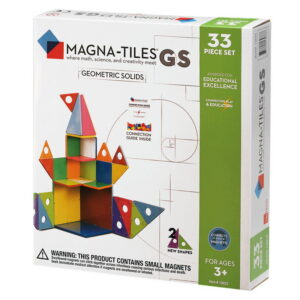 Magna-Tiles Geometric Solids  set magnetic (33 piese) (13033-MGT)