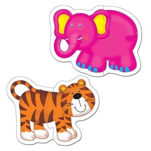 Puzzle pentru bebelusi Animale din jungla (1003031-GL)
