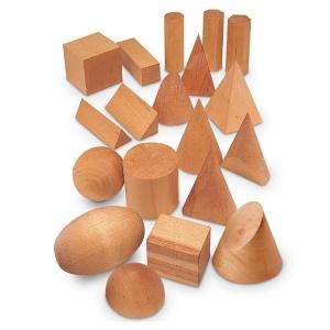 Set montessori forme geometrice din lemn (LER4298)