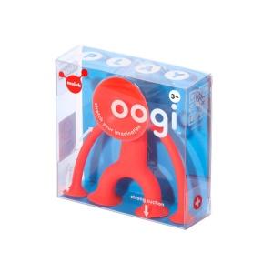 Oogi Junior (rosu) - Mini omuletul flexibil cu ventuze (MK43201)