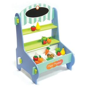 Minimarket din lemn cu fructe si legume (4678-ME)