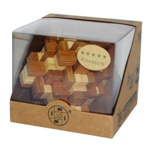 Puzzle de logica 3D din bambus - Ananas (3186-C-FA)