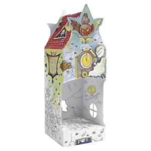 Casuta de colorat 3D din carton Monster House (MON-9924)