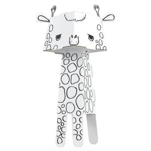 Girafa de colorat 3D din carton pliabil (MON-0128)