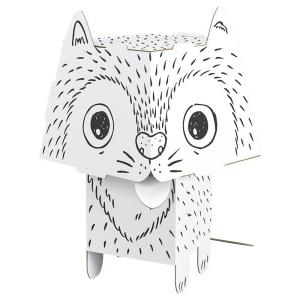 Pisica de colorat 3D din carton pliabil (MON-0104)
