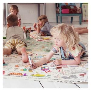 Poster de colorat de podea (120x80 cm) - Vehicule (MON-9344)