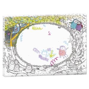 Rama creativa de colorat si personalizat - Bufnitele (MON-0081)