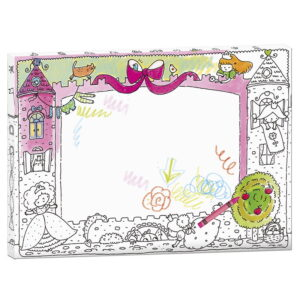 Rama creativa de colorat si personalizat - Castelul printeselor (MON-0098)