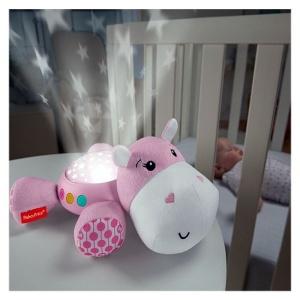 Proiector pentru bebe (roz) Hipopotam Fisher Price (MATTEL-FGG89)
