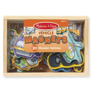 Vehicule magnetice din lemn (20 de piese) (MD8588)
