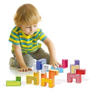Minizoo – Puzzle cu forme modulare 9 animale (Q4061)