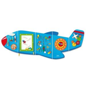 Jucarie de perete multifunctional XXL - Avion (180 cm) (VI-5040)