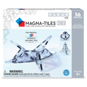 Magna-Tiles ICE Transparent - set magnetic (16 piese) (18716-MGT)