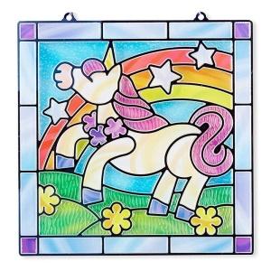 Unicornul magic - set vitraliu cu autocolante (MD9299)
