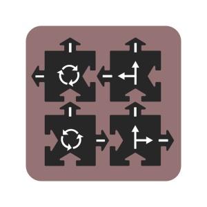 Extensie Waytoplay - Intersectii (4 piese) (WTP-4CR)